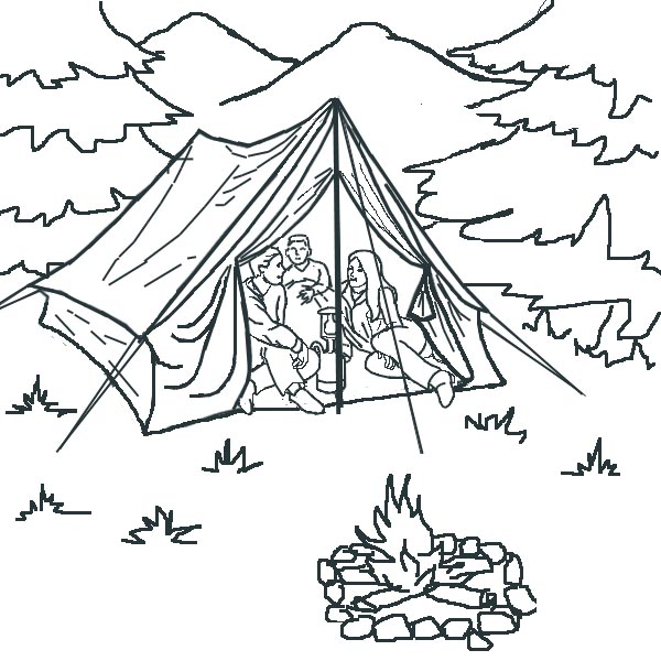 Free Coloring Pages Of Campfire